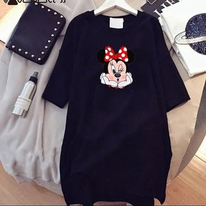 Minnie Mouse Print Casual Loose T-shirt dress